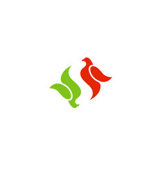 Smart fly logo vector