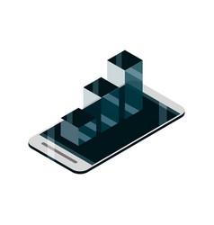 smartphone statistics business device gadget vector image