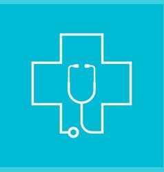 stethoscope health care vector image