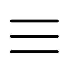 Three bar line icon symbol of menu outline vector