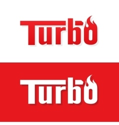 Turbo text logo design vector image