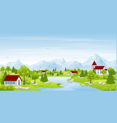 Urban summer landscape vector