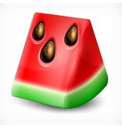Watermelon on white vector image