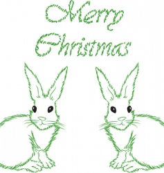 white hare vector image