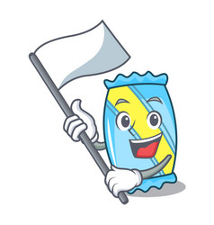 with flag candy mascot cartoon style vector image