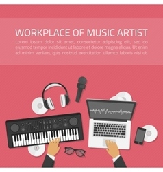 workplace music artist vector image