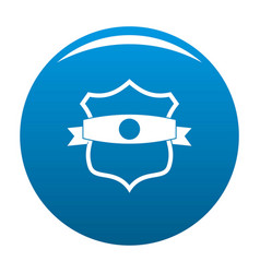 badge classic icon blue vector image vector image