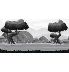 Black and White Seamless spring forest landscape vector image vector image