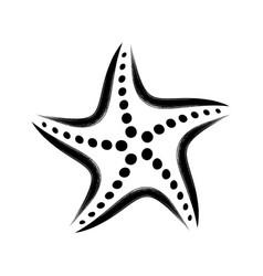 black stylized starfish vector image vector image