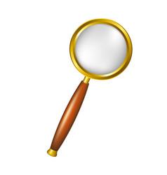 magnifying glass in golden design vector image