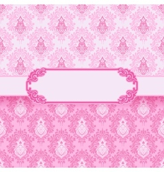 Romantic frame valentines day vector image vector image