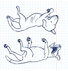 Sketchy dogs vector image