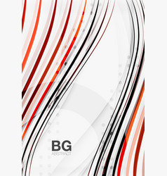 wave lines abstract background vector image vector image