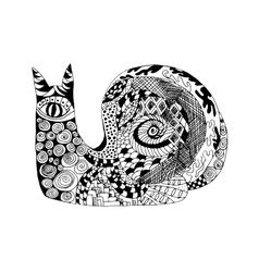 Zentangle stylized snail Sketch for tattoo or t vector image vector image