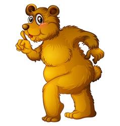 A big brown bear vector image vector image