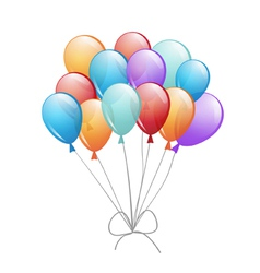 a group of balloons vector image