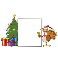 Chirstmas turkey cartoon vector image