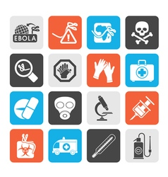 Ebola pandemic icons vector image