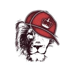 lion head hand drawn vector image