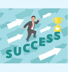success concept business vector image vector image