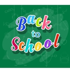 back to school colorful message vector image vector image