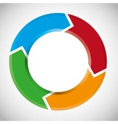 colorful circular arrow chart vector image vector image