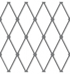 daisy fence pattern vector image vector image