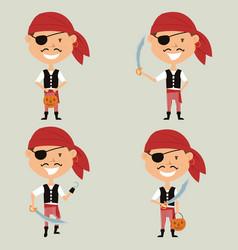 halloween pirate boy vector image