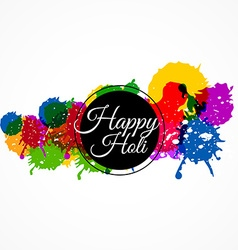 happy holi with colorful splash vector image