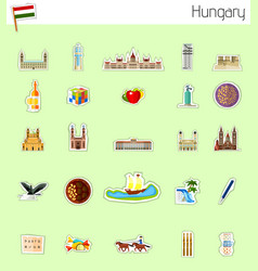 icons of hungary vector image vector image
