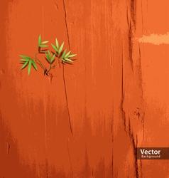 Leaf on orange wallpaper vector image vector image