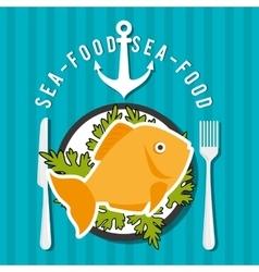 Sea food gastronomy vector image