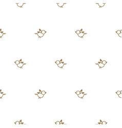 Vintage thin line bird seamless pattern vector
