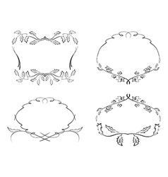 frames with floral elements - set vector image