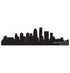louisville kentucky skyline detailed silhouette vector image vector image