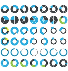 Round infographic elements and pie charts vector image vector image
