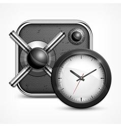 Safe icon clock vector image vector image