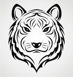 Tiger Face Tattoo vector image
