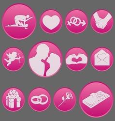 valentine icon set gradient style vector image vector image