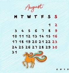 2015 horses august vector