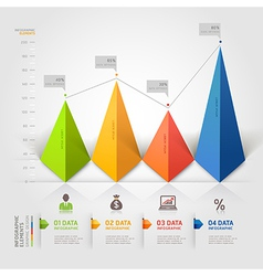3d business triangle infographics vector image