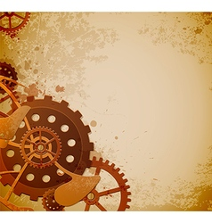 Abstract industrial background with gears vector image