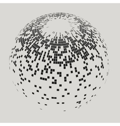 Abstract Sphere with Squares vector image