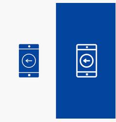 application mobile mobile application left line vector image