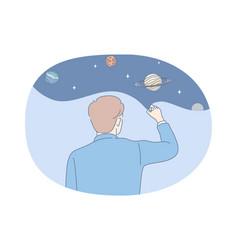 astronomy and planetarium concept vector image