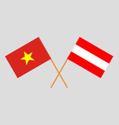 Austria and vietnam flags vector