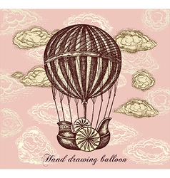 Balloon Transport Background vector