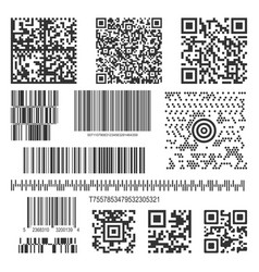 Black matrix barcode line collection vector