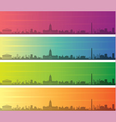 buenos aires multiple color gradient skyline vector image