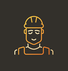 builder creative colored outline icon or vector image